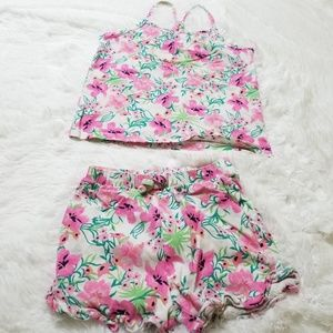 The Children Place set flower set top and short 4T
